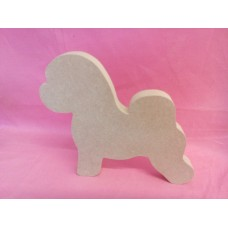 18mm Thick MDF Small Bichon Frise Dog